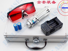 445nm/450nm 500000mw/500w focusable blue laser pointers burn match balloon dry wood/cigarettes+5 caps+glasses+charger+gift box super powerful blue laser pointers 20000mw 20w 450nm burn match dry wood black burn cigarettes 5 caps charger glasses gift box