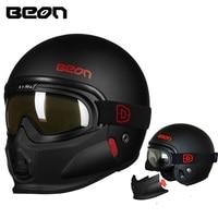New style Beon helmet Modular Open Face Helmet Moto Casque Casco Motocicleta Capacete Helmets with google chin ECE