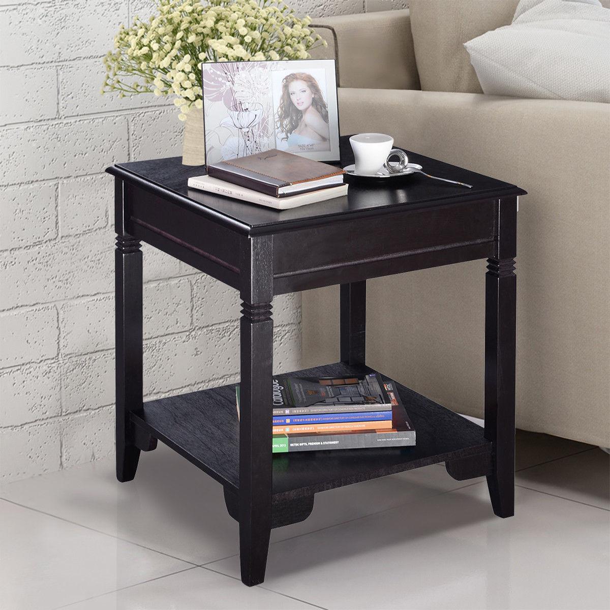 Giantex современные Кофе стол прочный качество Мебель для дома срок хранения декор Спальня тумбочке hw51532