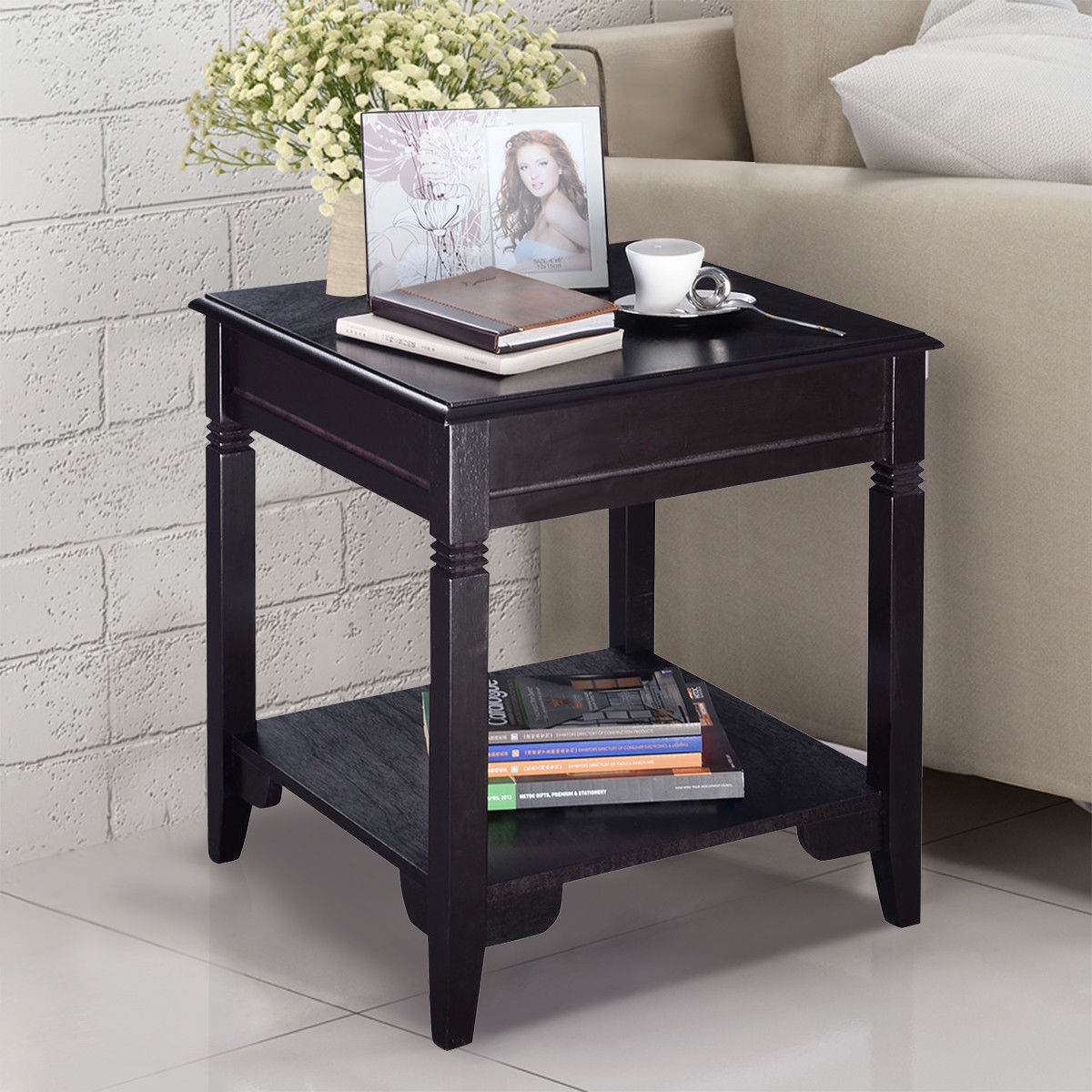Giantex Modern End Coffee Table Durable Quality Home ...
