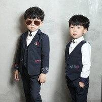 Boys 'suit Fall Boys' New Little Suit Korean Jacket Vest Shirt Trousers 4 Pieces Set Boys Clothing Set