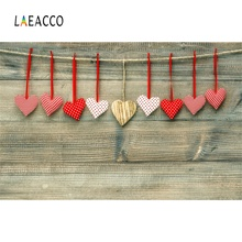Laeacco Wooden Boards Love Hearts Photography Backgrounds Baby Child Portrait Scene Seamless Photographic Studio Photo Backdrops
