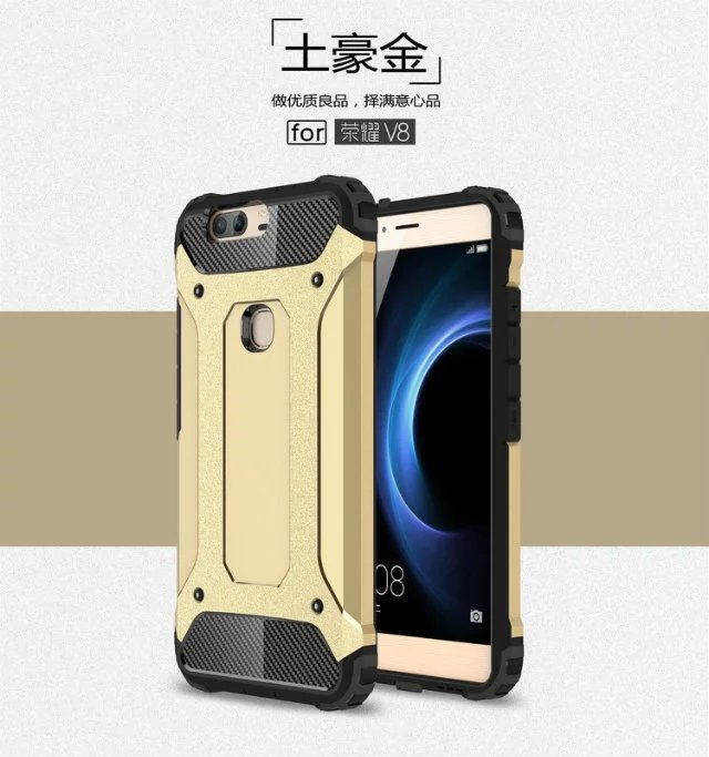 Hot Shockproof Slim Armor <font><b>Phone</b></font> <font><b>Case</b></font> Hard PC+Soft Silicon 2 in 1 Hybrid Back capa Cover On For Huawei Honor 5C 5X 6X V8 5A/Y6 ii