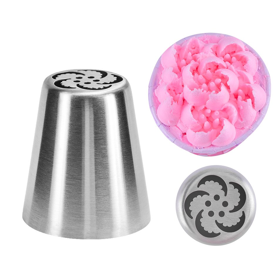 TTLIFE Cherry Flower Stainless Steel Cake Nozzles DIY Russian Icing Piping Nozzle Fondant Decorating Mold Pastry Tips