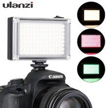 Mini led ulanzi 112 de bolso para câmera, vlogs contínuos iluminação para câmera canon nikon dslr moza mini s zhiyun smooth 4