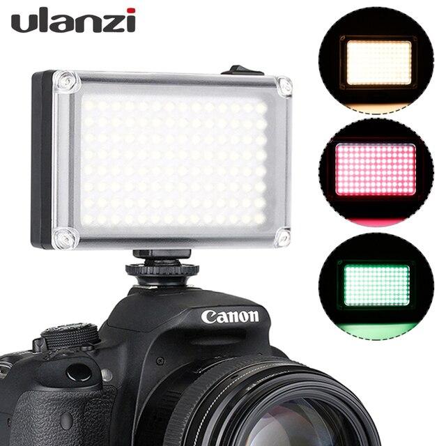 Ulanzi 112 Mini LED lumière vidéo poche Vlog continue remplissage éclairage sur appareil photo pour Canon Nikon DSLR Moza Mini S Zhiyun lisse 4
