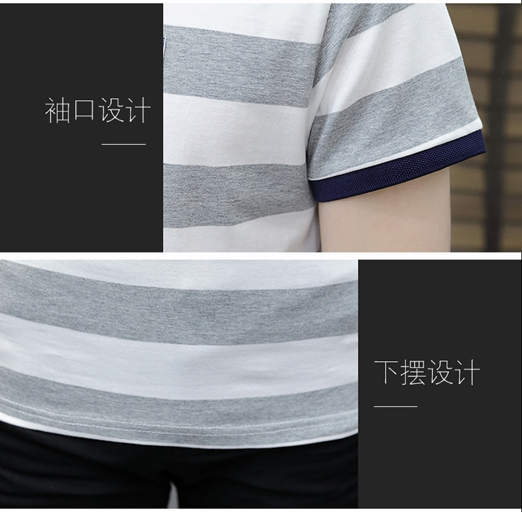 New summer high quality striped short sleeve polo shirt men brand clothing fashion Korean casual slim fit male camisa 9018Z 6