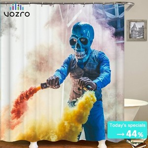 Vozro 2 M Halloween Shower Curtain Bape Bathroom Douchegordijn Pascoa Cortina Splatoon Miniaturas High Quality Waterproof Groot