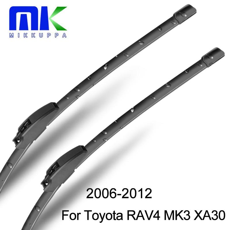 Toyota RAV4 3 XA30 2005 üçün ön və arxa silecek bıçaqlar 2005 2006 2007 2008 2009 2010 2011 2012 Külək şüşələri