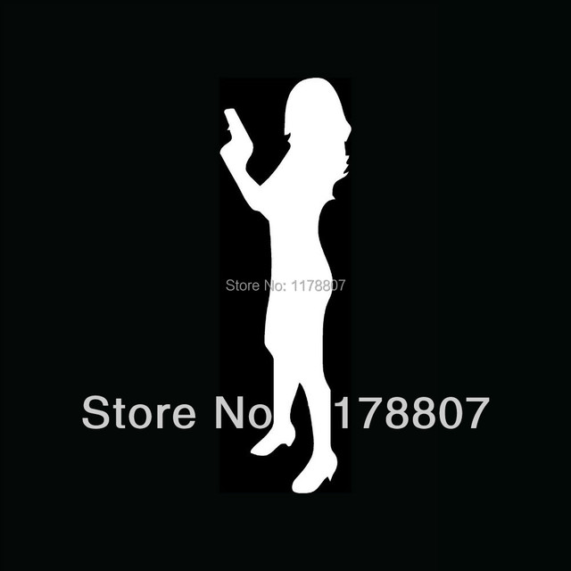Wholesale SEXY GIRL WITH GUN Sticker Vinyl For Car Rear Windshield - Truck rear window decals   how to purchase and get a great value safely