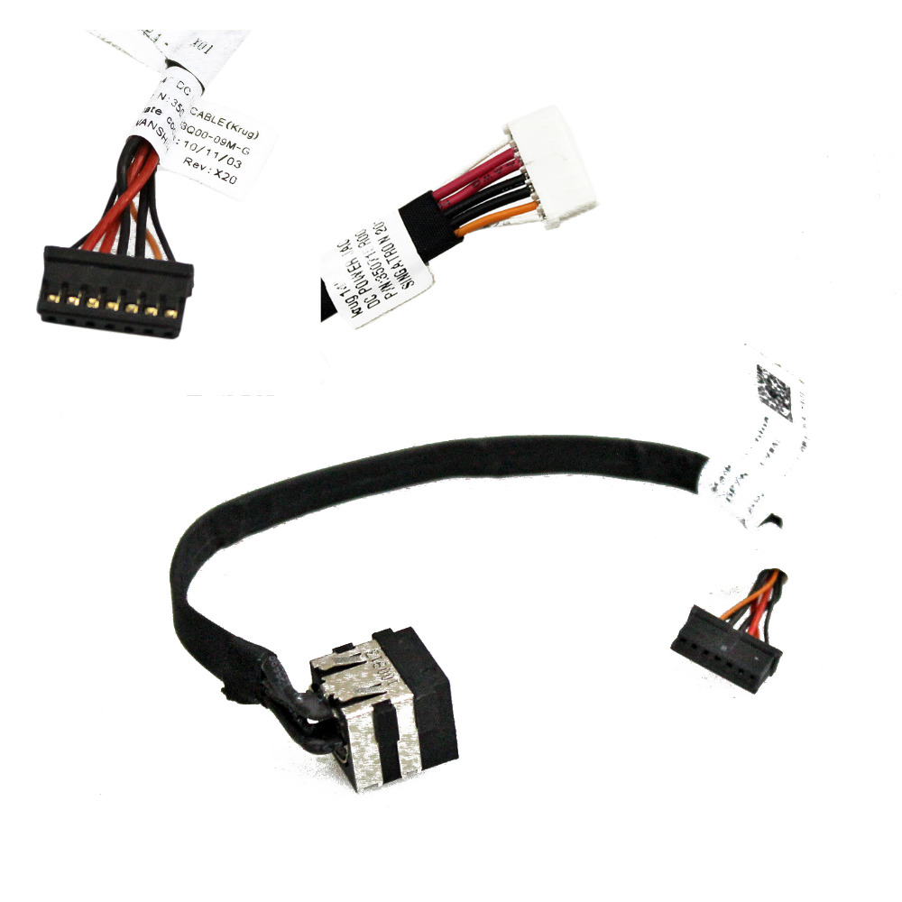 FOR Dell Latitude E5420 <font><b>E5520</b></font> DC Jack Power Cable Harness P/N: NDKK9 0NDKK9 XW85C 0XW85C 350715R00-H 350715R00-H59-G image