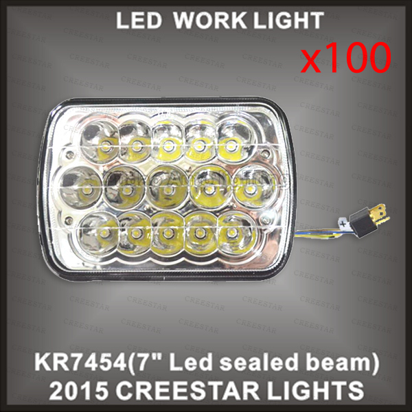 New design high performance 7inch 45w high Low beam led sealed beam KR7454 100pcs lots DHL