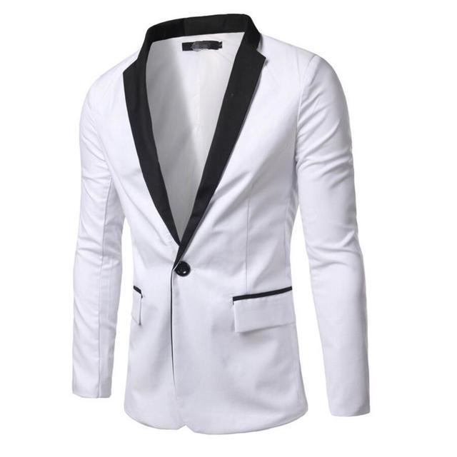 Мода Формальные Мужчины Платье Костюм Куртка Горячие Продажа Белый Черный Мужчин Смокинг Мужчины Топы Костюм Куртки высокого качества