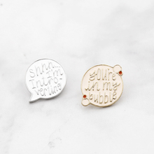 Youre in my bubble enamel pin personal space brooch pink badge best friend gift funny friendship jewelry