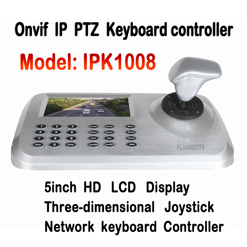 5''LCD ONVIF IP PTZ Keyboard control IP PTZ Camera 3D Joystick HD Network PTZ Keyboard Controller for CCTV Speed Dome PTZ Camera