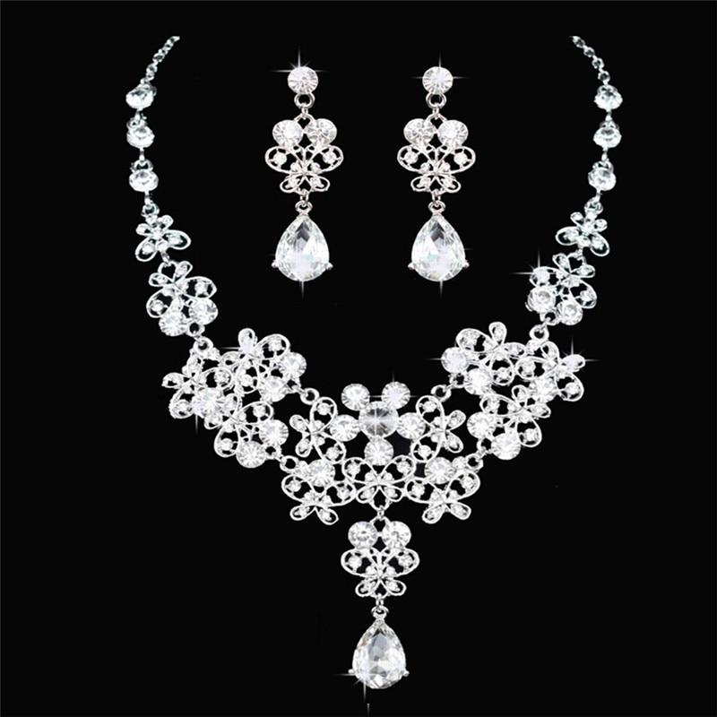 Fashion Crystal Wedding Bridal Jewelry Sets Tiara Crown ...