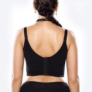 Image 4 - נשים של כיסוי מלא ברזלים ללא ריפוד לנשימה פרחוני תחרה חזייה בתוספת גודל 34 36 38 40 42 44 46 ב ג ד ה ו ז ח ט י