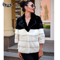 Real Mink Fur Coat For Women Robe Femme Hiver 2019 Luxury Top Grade Park With Natural Fur Fashion Slim Full Pelt Warm Outerwear