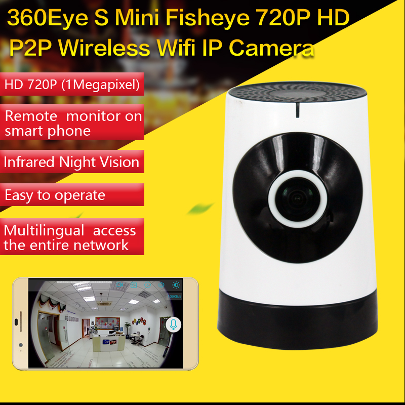 Mini Wireless Camera,185 Degree HD WiFi Video Monitoring Surveillance Camera Night Vision Two Way Audio IP Camera-Baby Monitor howell wireless security hd 960p wifi ip camera p2p pan tilt motion detection video baby monitor 2 way audio and ir night vision