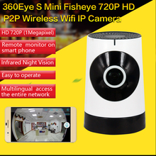 Mini Wireless Camera,185 Degree HD WiFi Video Monitoring Surveillance Camera Night Vision Two Way Audio IP Camera-Baby Monitor