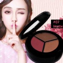 3 Colors palette of shadows tray Matte Waterproof Glitter Eyeshadow Makeup Women Girls Cosmetics