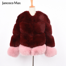 2019 New Womens Fashion Fur Coat Top Quality Customized Mixed Color Fox Jacket Natural Winter Thick Warm S7372