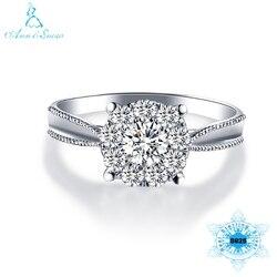 Женское кольцо из серебра 925 пробы, с фианитом