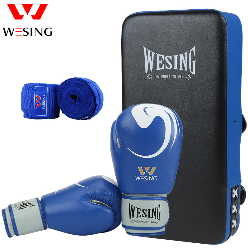 wesing boxing kick pad focus target pad muay thia boxing gloves bandwraps bandage training equipment high quality boxing training gloves head protect protector hemlet punch pad focus mitt muaythai muay combination