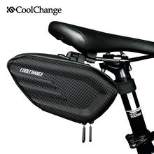 CoolChange Bicycle Saddle Bag Waterproof Bike Rear Bags Shockproof Cycling Seat Tail Reflective MTB Accessories