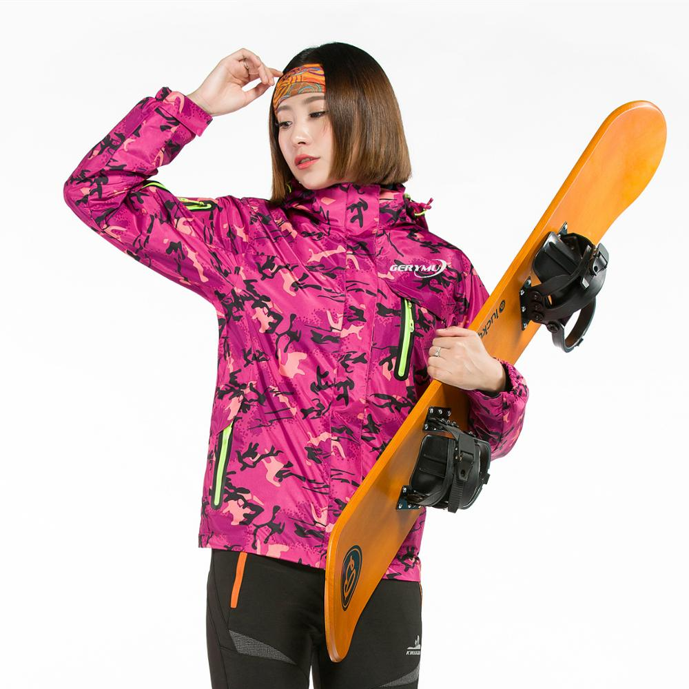 ФОТО Women winter warm Camping Skiing  Rock Climbing  cycling  Jacket Waterproof Windproof Breathable Hunting Mountaineering clothes
