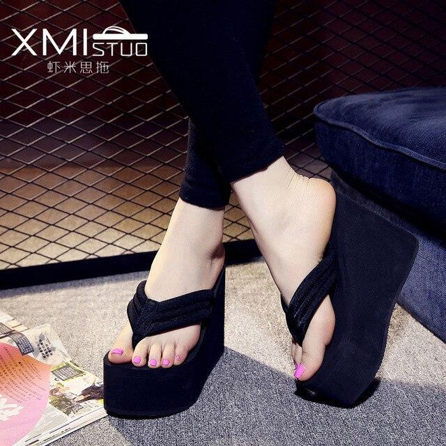 143aa02dbc66 2018 High Heel Sandals Women Platform Summer Shoes Women Platform Sandals  Summer Beach Shoes 12cm Heels
