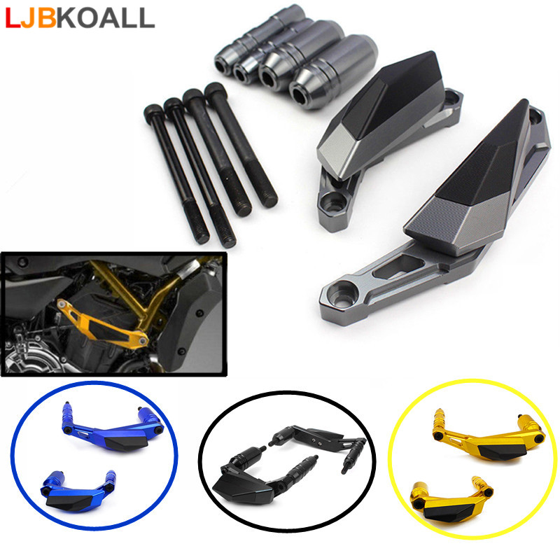 New CNC Aluminum Motorcycle Engine Slider Case Guard Cover Protector Frame For YAMAHA MT-07 FZ-07 FZ07 MT07 MT 07 2014-2017 new parts for yamaha mt07 mt 07 2013 2014 2015 aluminum motorcycle cnc crash pads frame slider protector falling protection