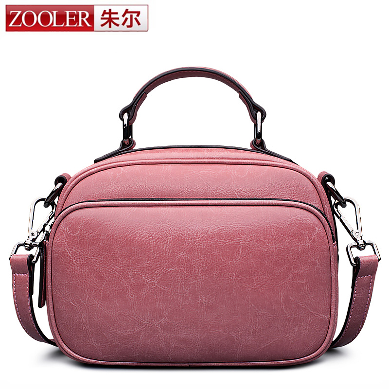 ZOOLER Women Small Bag 2017 Summer New Girls Genuine Leather Messenger Bags Lady Circular Shoulder Bag Crossbody Bag Multilayer 2017 fashion all match retro split leather women bag top grade small shoulder bags multilayer mini chain women messenger bags