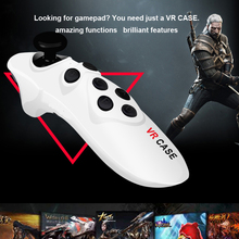 Universal Portable Mini Bluetooth VR Case 3D Glasses Wireless Mouse Remote Control Joystick VR CASE Gamepad for android/ios/PC