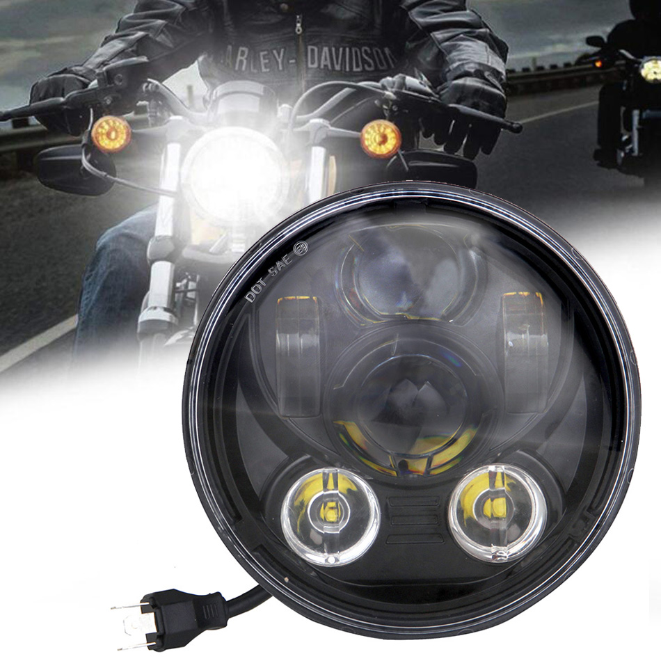 5.75INCH LED HEADLIGHT FOR HARLEY MOTORCYCLE HEADLAMP For Softail Dyna Sportster MOTORBIKE ACCESSORIES HI-LO BEAM LAMP ASSEMBLY