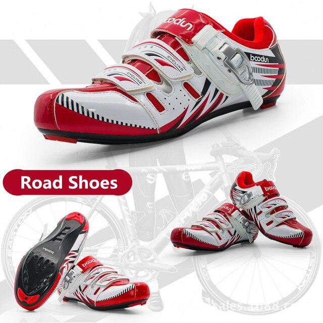 Boodun sapatos de ciclismo respirável antiderrapante profissional auto-bloqueio da bicicleta sapatos de corrida mtb estrada sapatos de ciclismo 4
