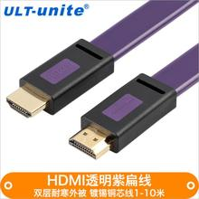 Free delivery Producers wholesale HDMI cable model 1.four set-top field to take TV two-color mode 1080P flat hdmi cables