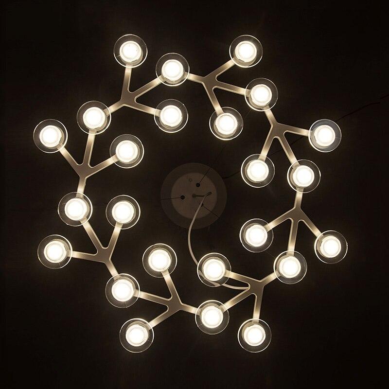 modern art design led star plum blossom decor ceiling. Black Bedroom Furniture Sets. Home Design Ideas