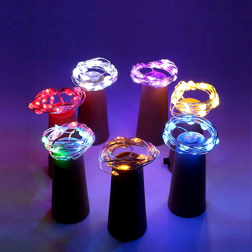 1M Wine Bottle Cork LED Light String Holiday Wedding Party Christmas Fairy Garden Lights Decor Indoor Luces LED Decoracion Light in LED String from Lights Lighting