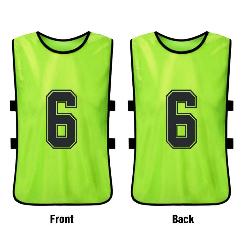 6 pçs juventude esportes futebol equipe de treinamento babadores secagem rápida basquete jérsei do miúdo basquete pinnies prática esportes colete