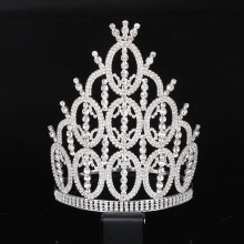 Elegant Noble Crystal Rhinestone Crown Bridal Wedding Hair Accessories Tiara Headbands Crown Hairwear