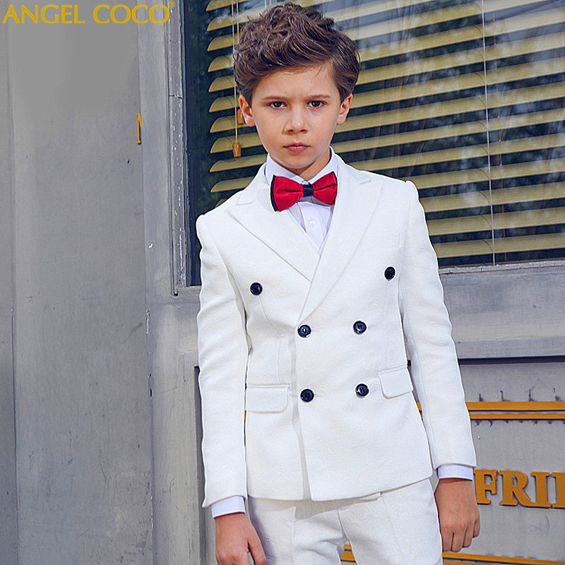 Menino Boys Suits For Weddings New Arrival Solid White Boys Wedding Suit Formal Suit For Boy Kids Wedding Suits Blazer Boy 2018 new arrival boy suits england style boys blazer long sleeve plaid for kids clothes