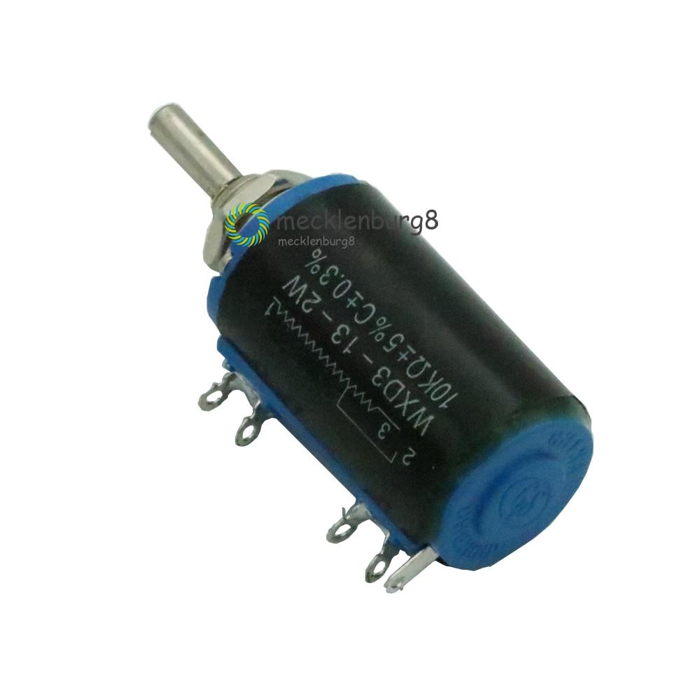 Black Precision WXD3-13-2W 10 K To Ohm WXD3-13 2 W Rotary Side Rotary Multiturn Wire Linear Potentiometer Diy Kit