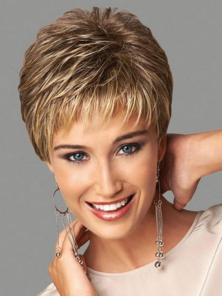 Synthetische Highlights Blonde Kurze Weibliche Haarschnitt