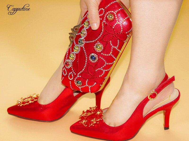 Ensemble rouge Nouveau Avec Main Hauteur Venir Couleur partie Noir Chaussures Talon 3 Mince Cm Sandale De À vert Et 9 Mariage Noir Sac Pierres A168 5 4Oq4p