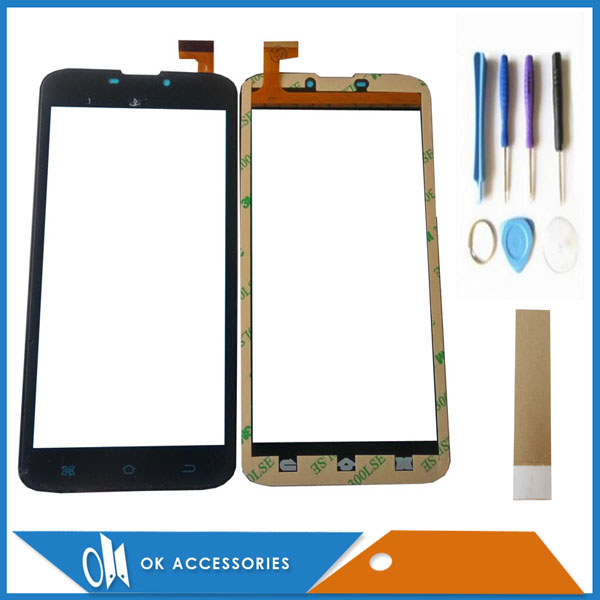 Black White Color For Phablet 4Good S605M 3G Touch Screen Digitizer With Tools Tape 1PC/Lot