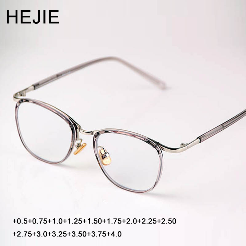 53b549967f HEJIE Unisex TR90 Alloy Reading Glasses High Clear Anti-scratch Aspherical  Lens Anti Glare Diopter+0.5+0.75+1.0+1.25~+4.0 Y1208