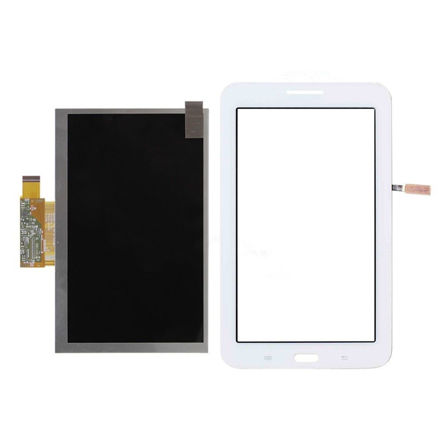 white Touch Screen Digitizer Glass Sensor + LCD Display Panel Screen For Samsung Galaxy Tab 3 Lite 7.0 T111 3G Free Shipping for samsung galaxy tab 4 10 1 sm t530 t531 t535 t530 touch screen digitizer lcd glass front panel 1 piece free shipping