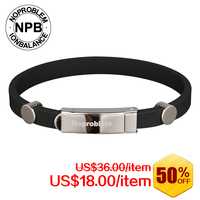 Noproblem Tourmaline Bangles Ion Balance Sport Power Therapy Magnets Band Bracelet P033 Blue