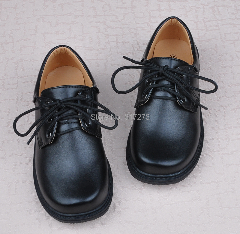 fashion children shoes black PU leather plus size formal dress school boy - Hello Club Online Store store